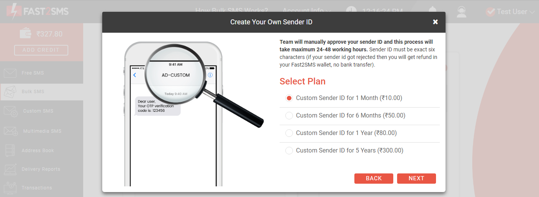 Sender ID new plans