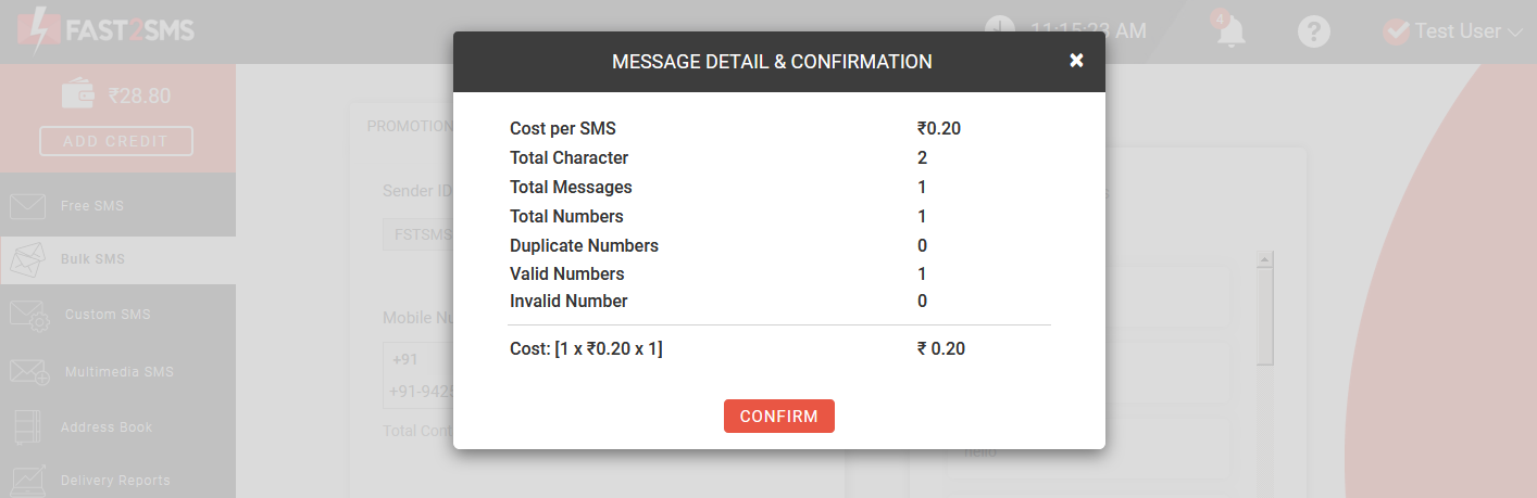 how to use quick transactional SMS?
