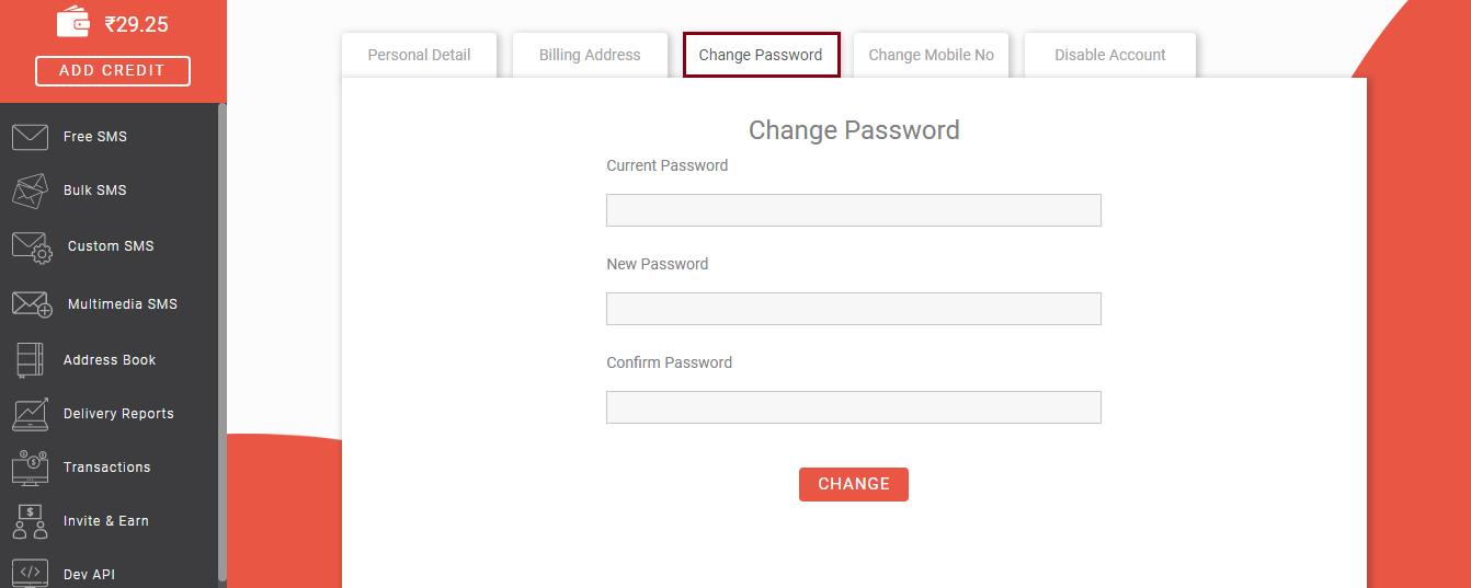 how to change login password in Fast2SMS?