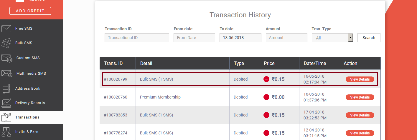 How to see transaction history?