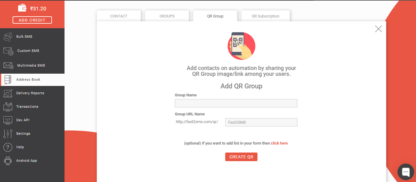 Create QR Group