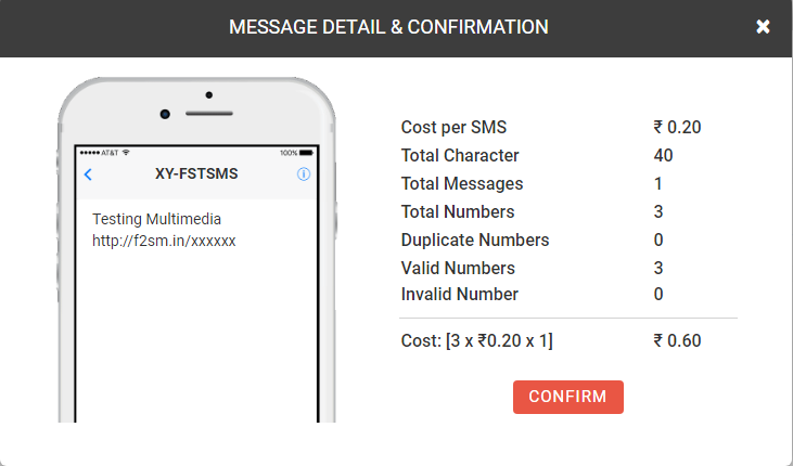 Multimedia SMS example