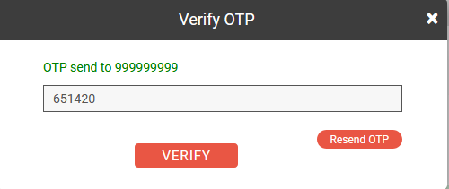 OTP to change mobile number