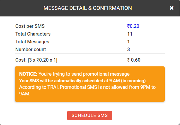 How Custom SMS works?