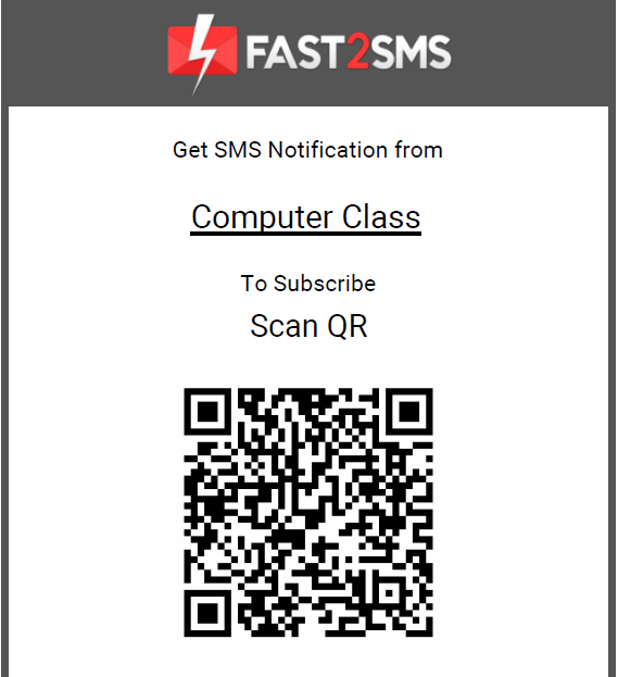 QR Subscription by scanning