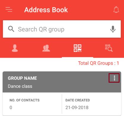 QR in address book