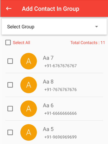 Add contacts from app