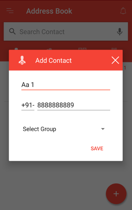 Add single contact from the phone book