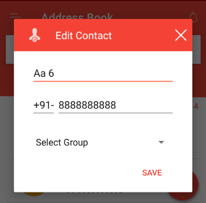 Contact edited in address book