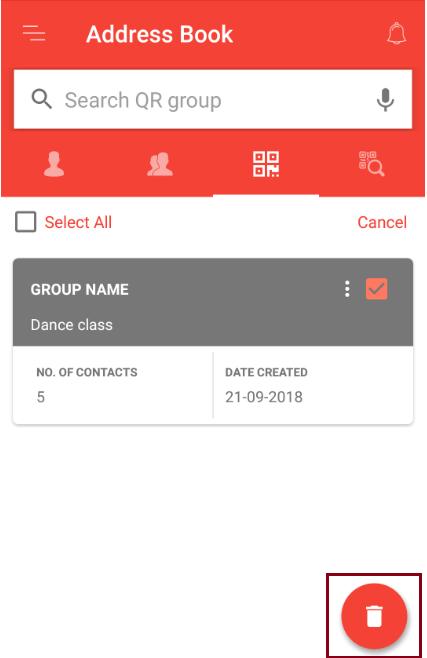 delete QR Group