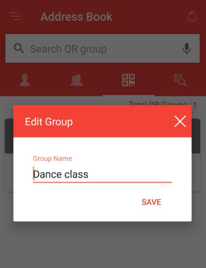 edit QR group