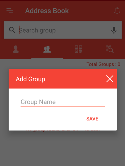 Add group in Fast2SMS address book