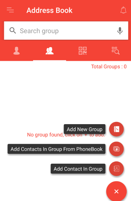 Add a group in Fast2SMS address book
