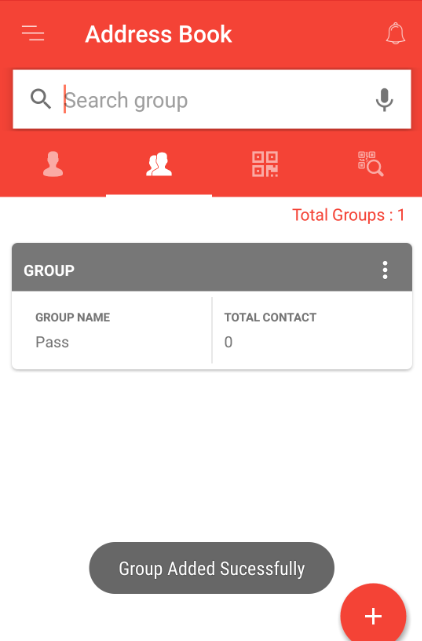 Group added successfully