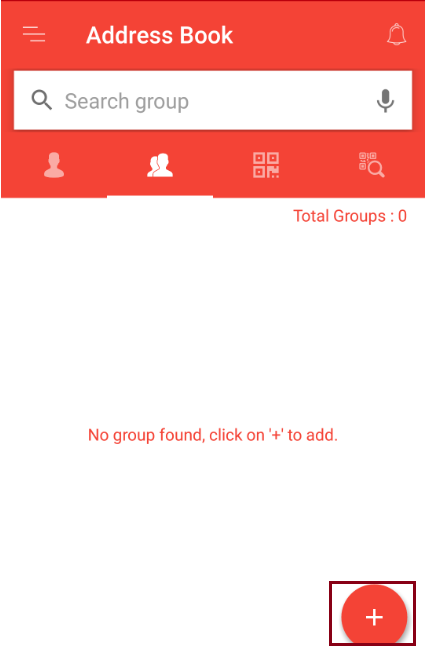How to add group in address book?