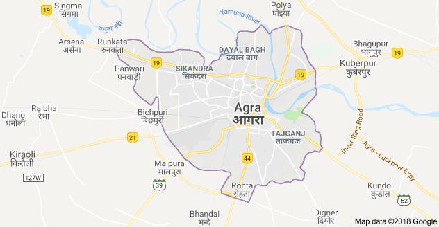 Agra city map