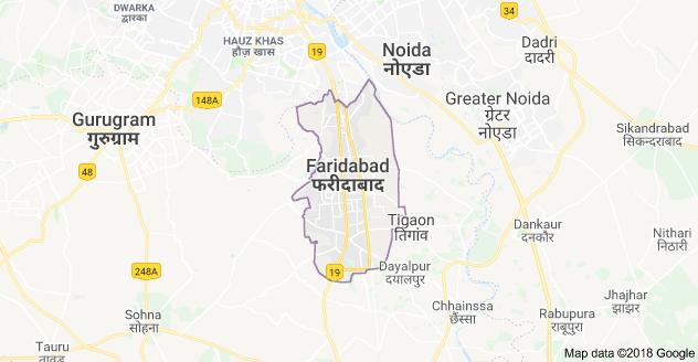 Faridabad city map