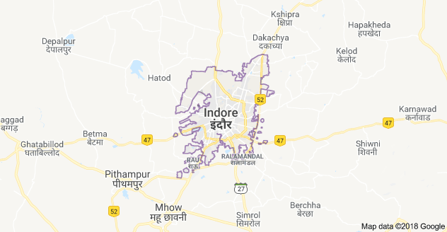 Indore city map