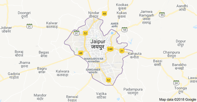 Jaipur city map