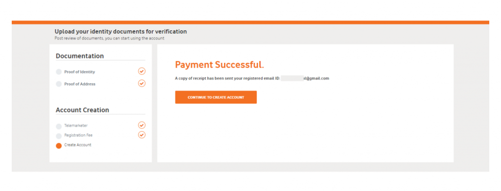 Payment Successful page