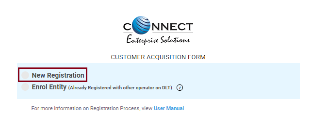 Customer Acquisition form
