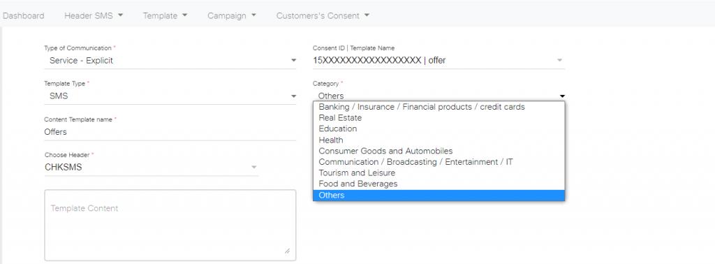 Content ID choose header