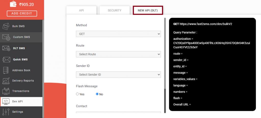 New API DLT