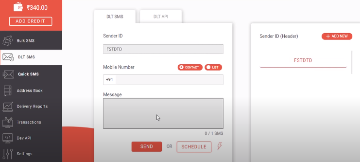 Sender ID approved in panel
